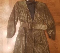 Zara zlatni sako haljina