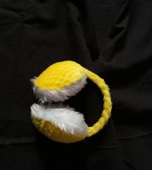 Žuti grijači slušalice za uši