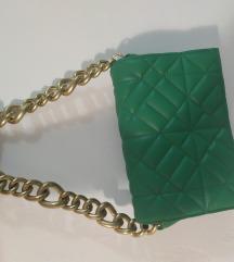 Zara zelena torba