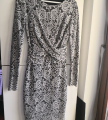Orsay siva čipkana haljina