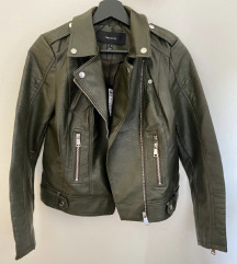 Zelena kožna jakna