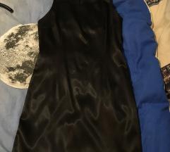 Crna svilena haljina!