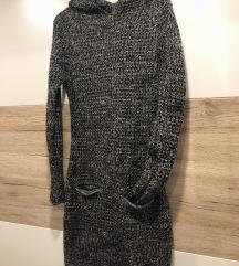 Pletena haljina s kapuljačom REZERVIRANO