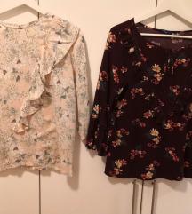 Lot dvije cvjetne bluze