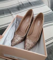Rose gold cipele salonke