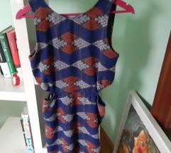 Koktel haljina s prorezom na struku