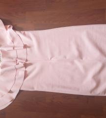 Roza bodycon svečana haljina