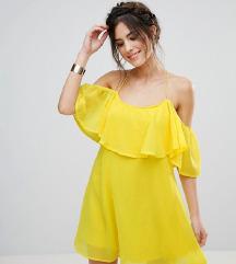 SNIŽENO ljetna žuta haljina - vel.M PT-UKLJUČENA
