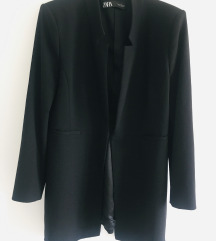 Kao nov Zara crni blazer kaput vel 42