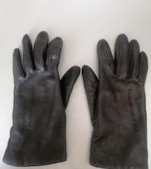 Crne rukavice od prave kože