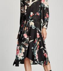 Zara haljina bird print M