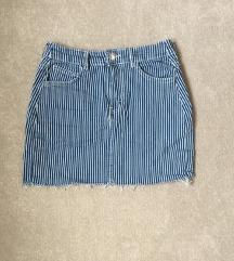 Bershka prugasta kratka suknja