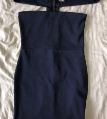 MISSGUIDED Tamnoplava mini haljina