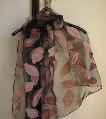 Prozirna marama sa listovima