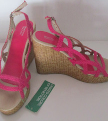 Benetton platforma sandale 39
