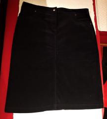 Velvet midi suknja