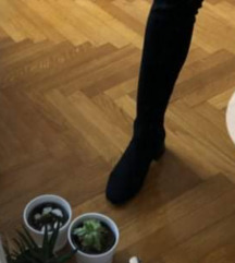 Visoke crne cizme 39