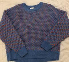 Oversize pulover sareni vel M