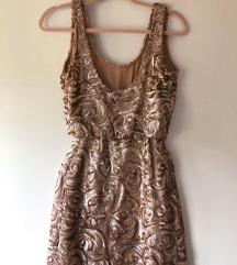 Mango haljina rose gold