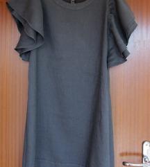 Siva lanena haljina 120% lino M