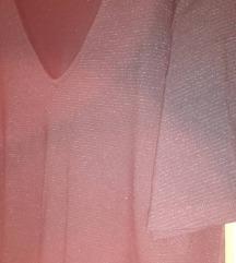 H&M nova crna haljina sa srebrnim nitima, S/M