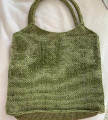 Zelena pletan torbica