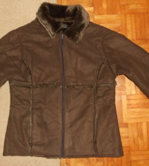 *Madonna topla smeđa jakna/bunda