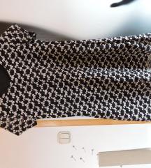 Haljina s čipkom crno-bijela