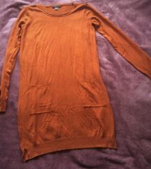 Smeđe/narančasta haljina XS