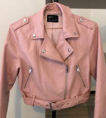 Bershka baby roza kožna jakna