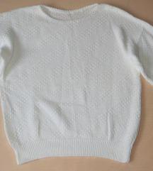 Nova bijela pletena vesta