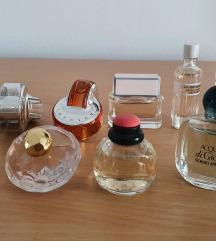 Armani, Bvlgari, YSL, Lancome, Givenchy parfemi