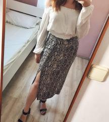 Ljetna Suknja sa Zmijskim Uzorkom