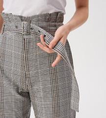 KARIRANE hlače visokog struka