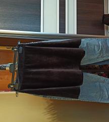 Crna plišana suknja