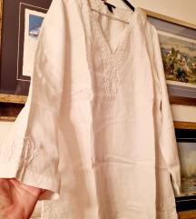 Bijela lanena tunika H&M