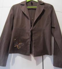Smeđa ljetna jakna-sako