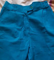 Vintage tirkizne hlače visokog struka
