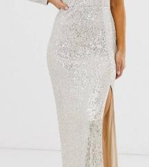 Srebrna duga haljina