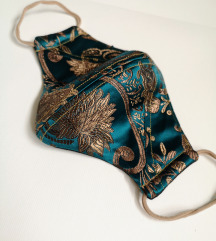 Maska za lice Eastern Gold - Turquoise dvoslojna