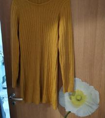 Žuta topla tunika/haljina