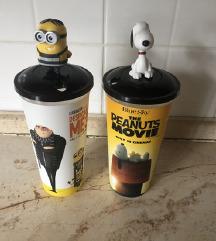 Cinestar SNOOPY i MINNION čaše s figuricama