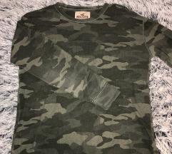 Hollister unisex hoodie bez kupulace (vojnicka)