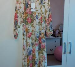Zara midi haljina nova s etiketom, Tisak uključen