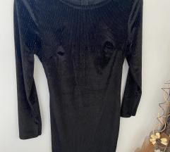 Crna haljina sa sljokastim nitima🎀
