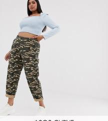 ASOS CURVE plus size camo hlače 46