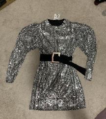 NOVA ZARA šljokasta haljina s remenom
