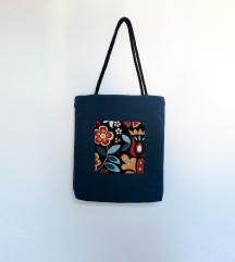 Plava torba ručni rad