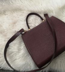 H&M torba burgundi boje