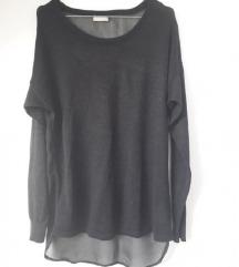 Crna svjetlucava majica prozirna 38